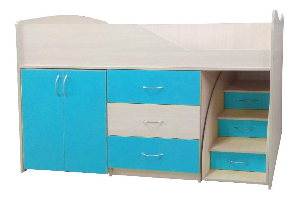 кровать комната трансформер голубая
