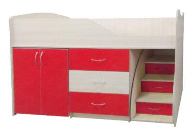ліжко кімната трансформер червона