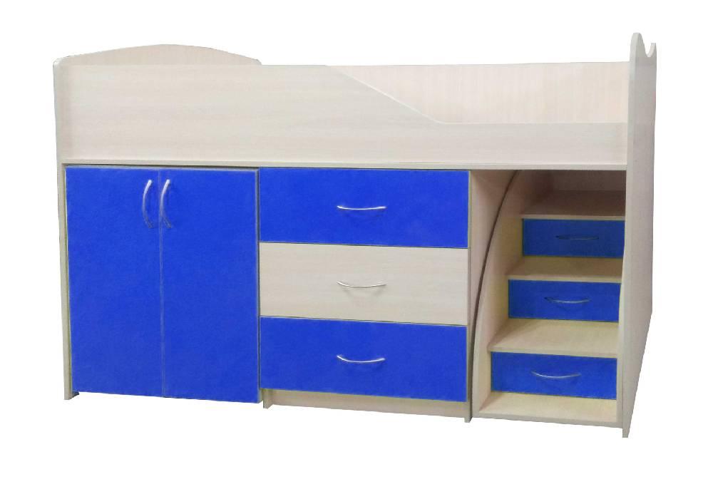кровать комната трансформер синяя