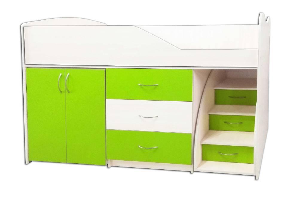 кровать комната трансформер зеленая