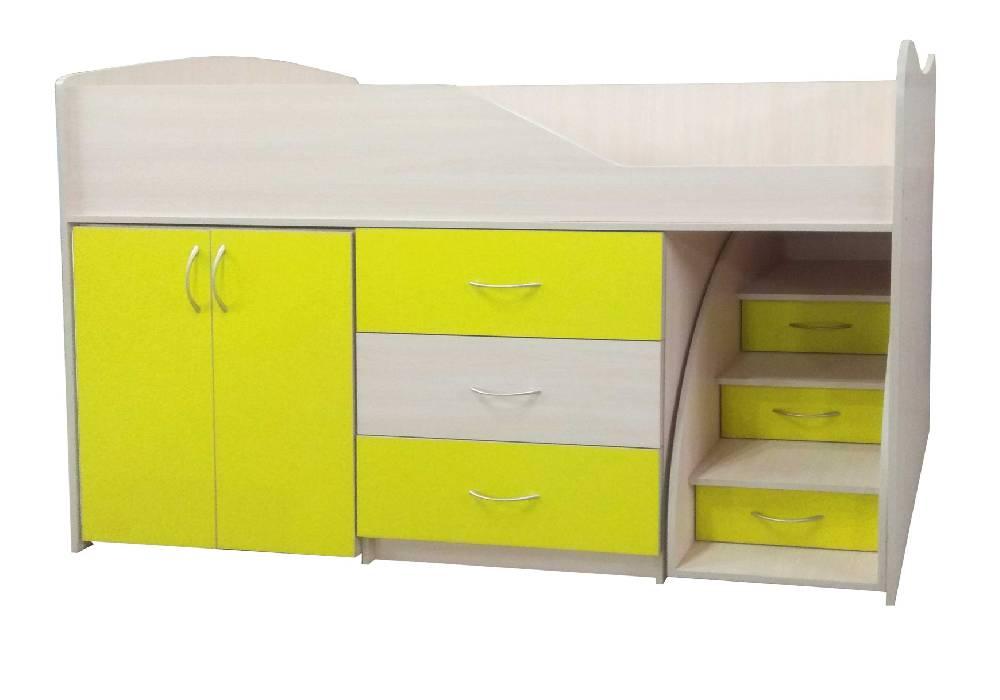 кровать комната трансформер желтая