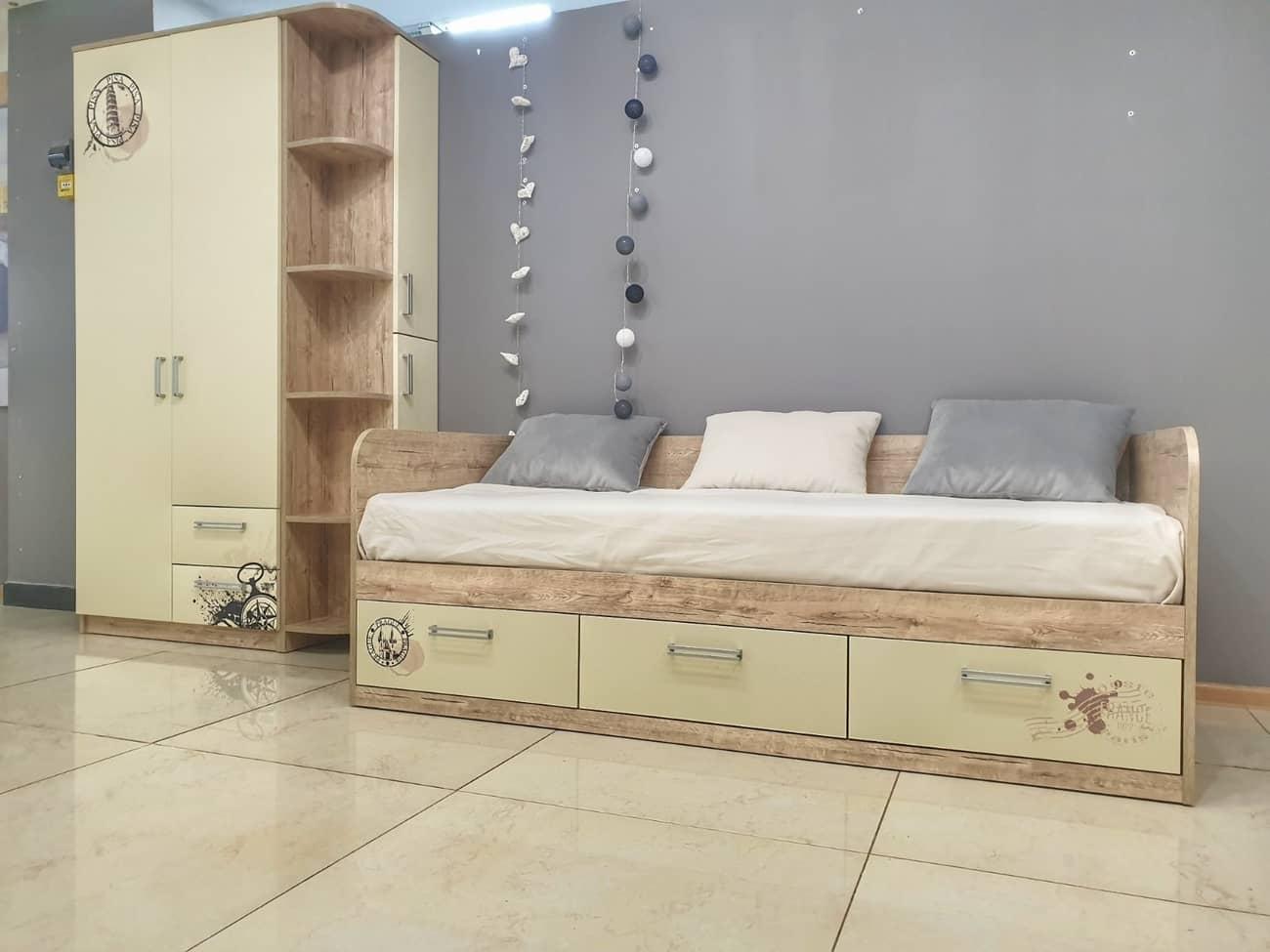 подростковая кровать ваниль в интерьере