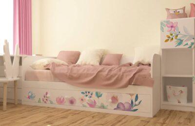 Кровать Цветы. 3 ящика