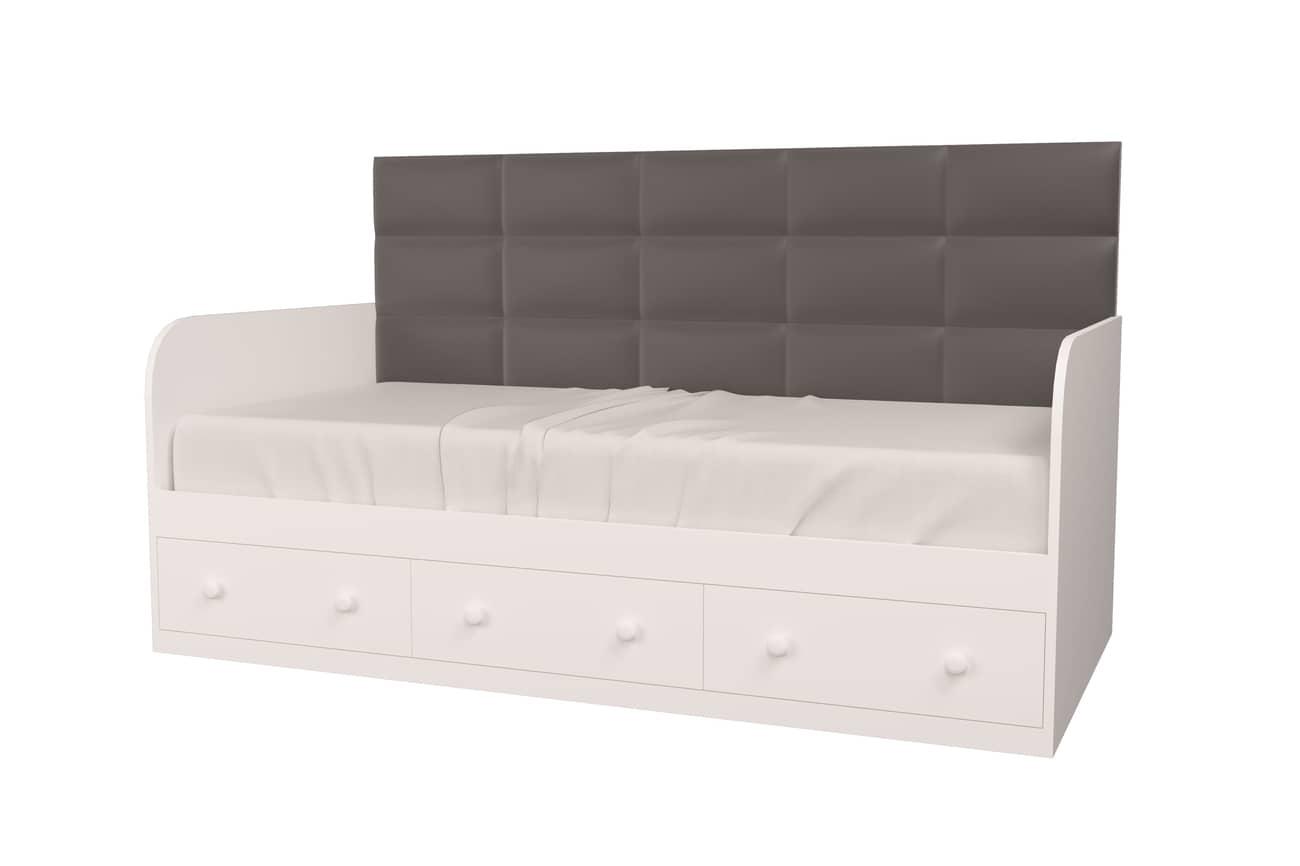 кровать с 3 ящиками белая