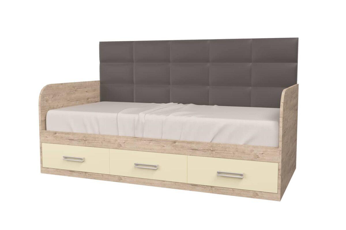 подростковая кровать шервуд с мягкой спинкой