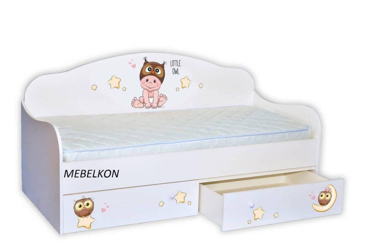 кровать с мальчиком совенком