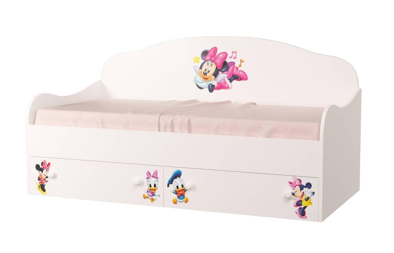 кровать для девочки минни маус
