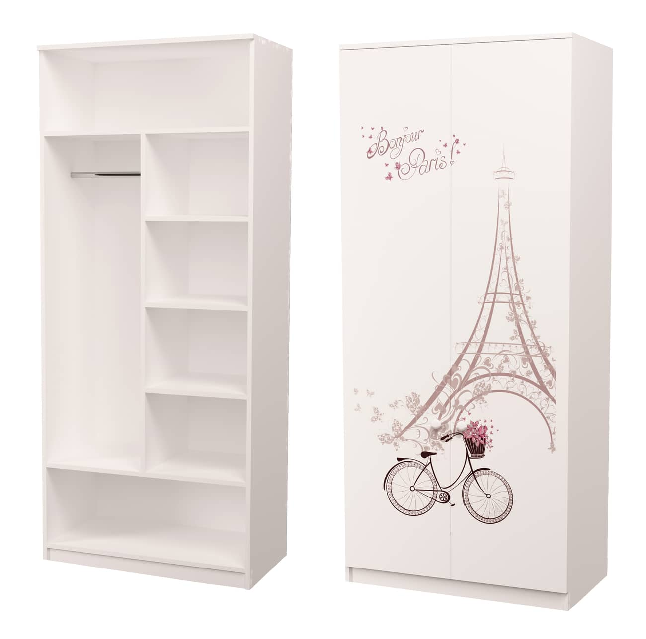 шкаф с рисунком и трубой париж
