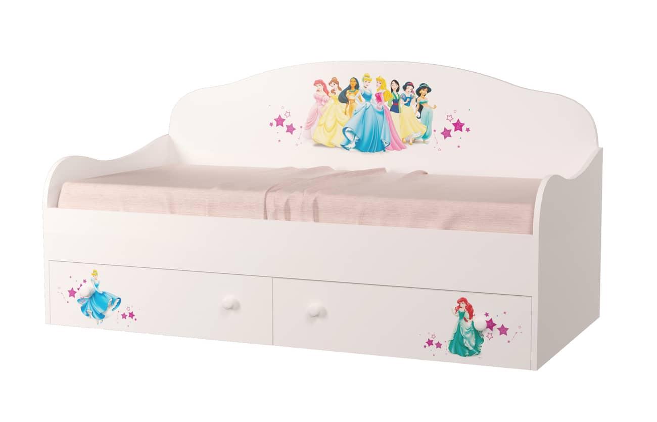 кровать диван с принцессами дисней