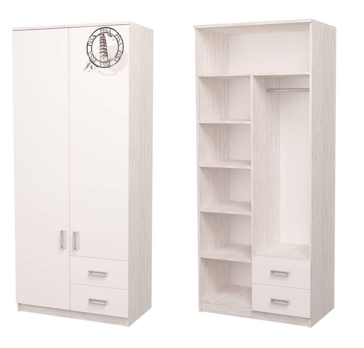 шкаф комбинированный аляска белый