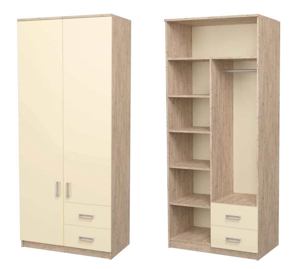 шкаф комбинированный дуб шервуд ваниль