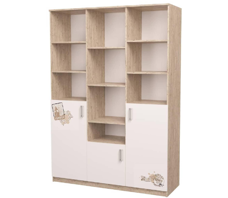 шкаф с полками трехсекционный