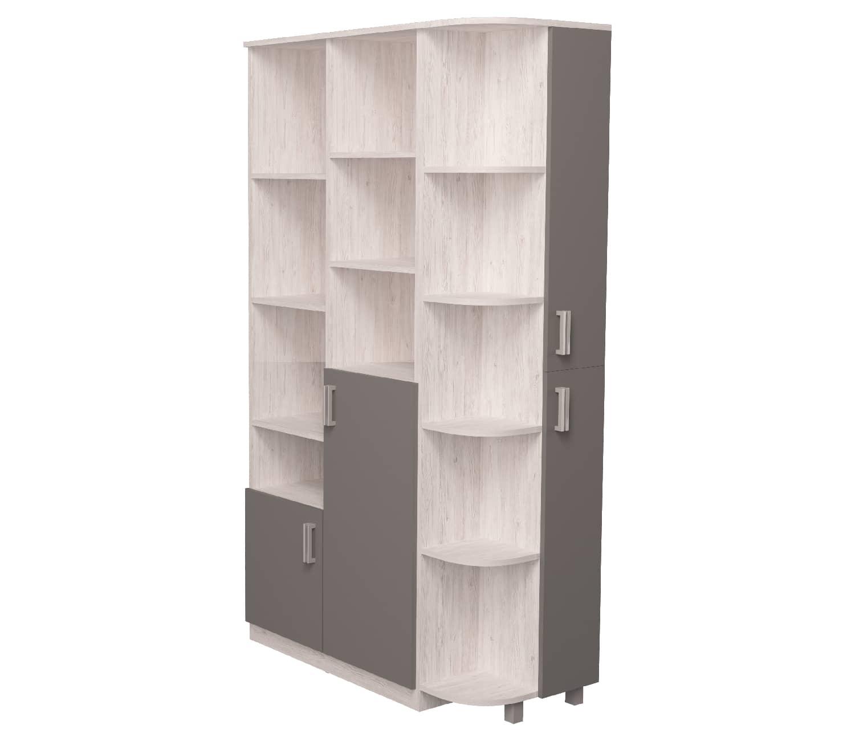 шкаф с эркером аляска антрацит