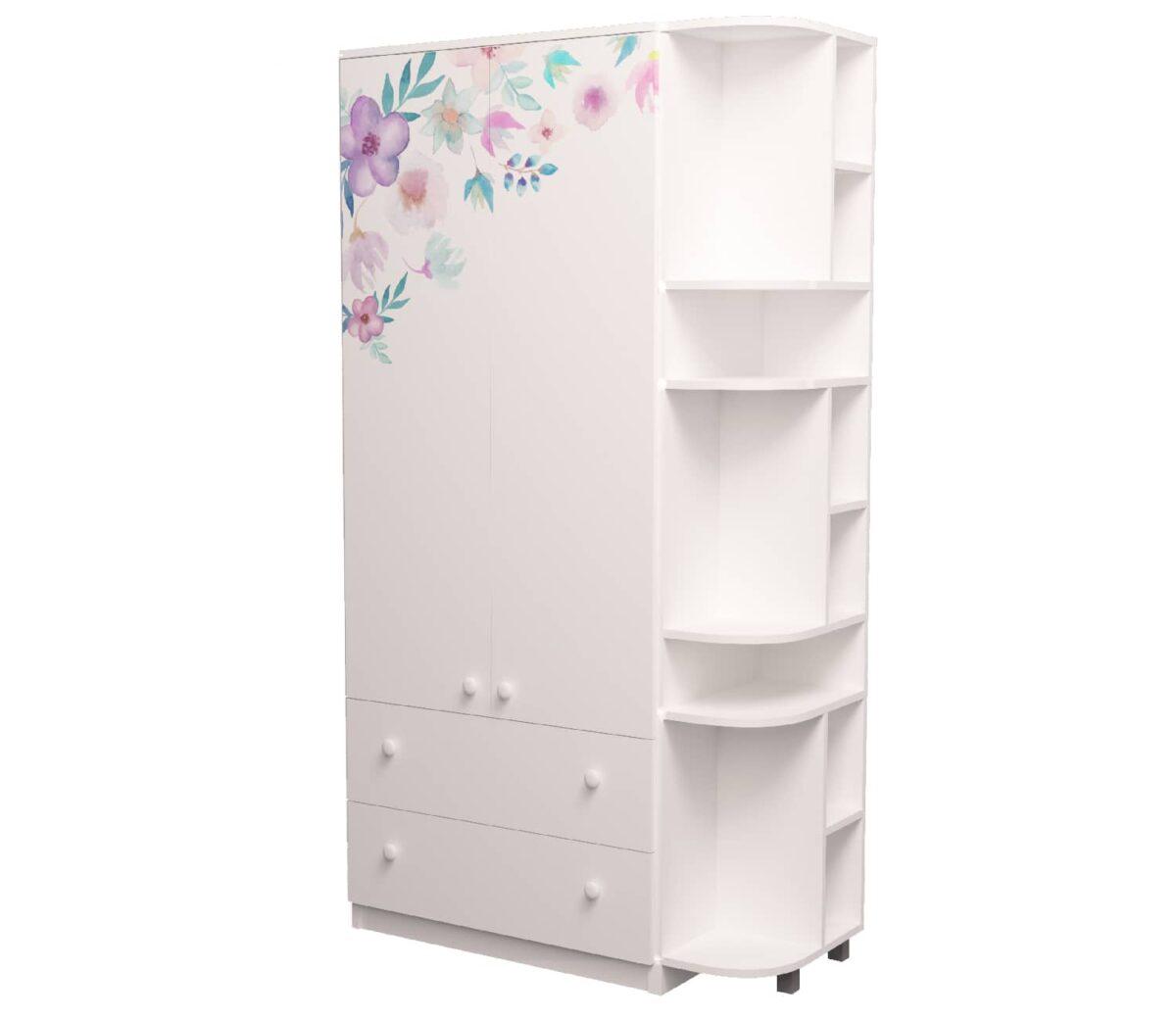 шкаф с эркером цветы