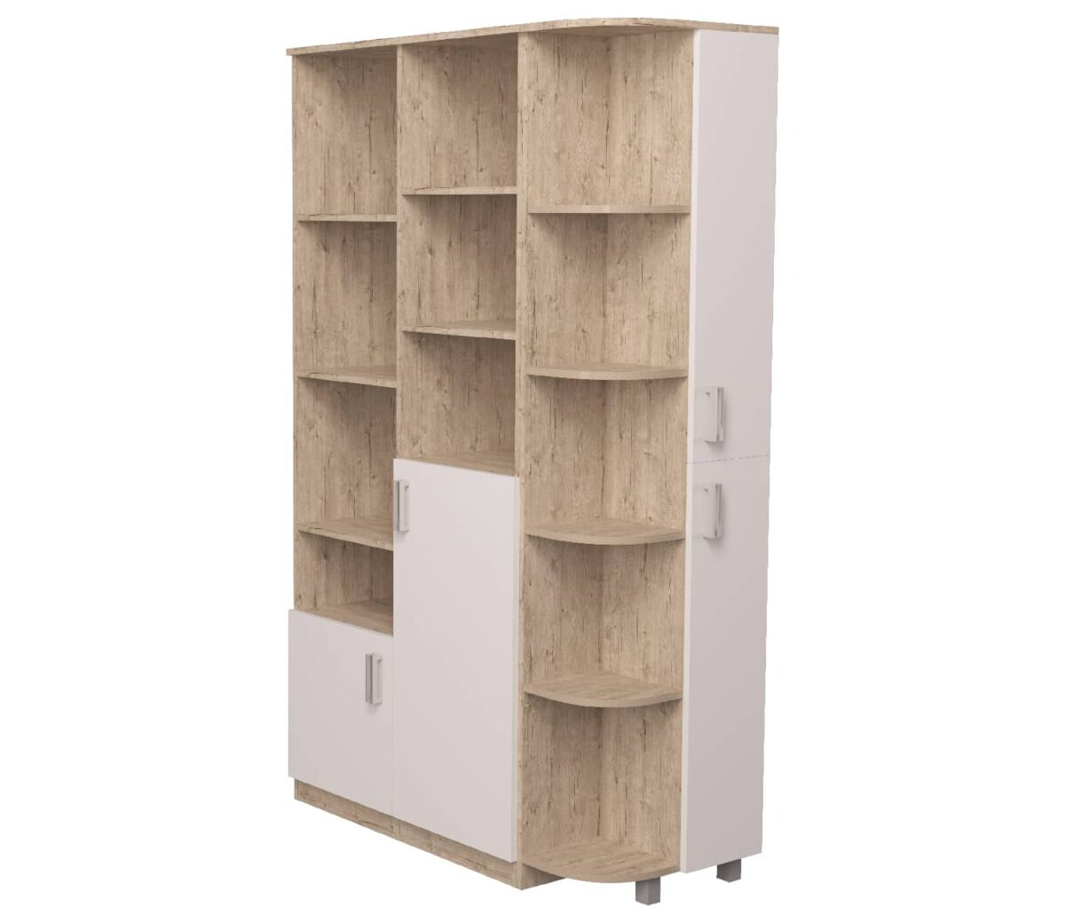 шкаф с эркером шервуд белый