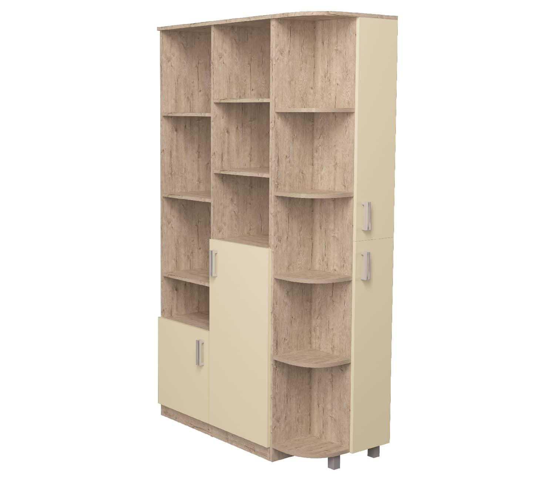 шкаф с эркером ванильный