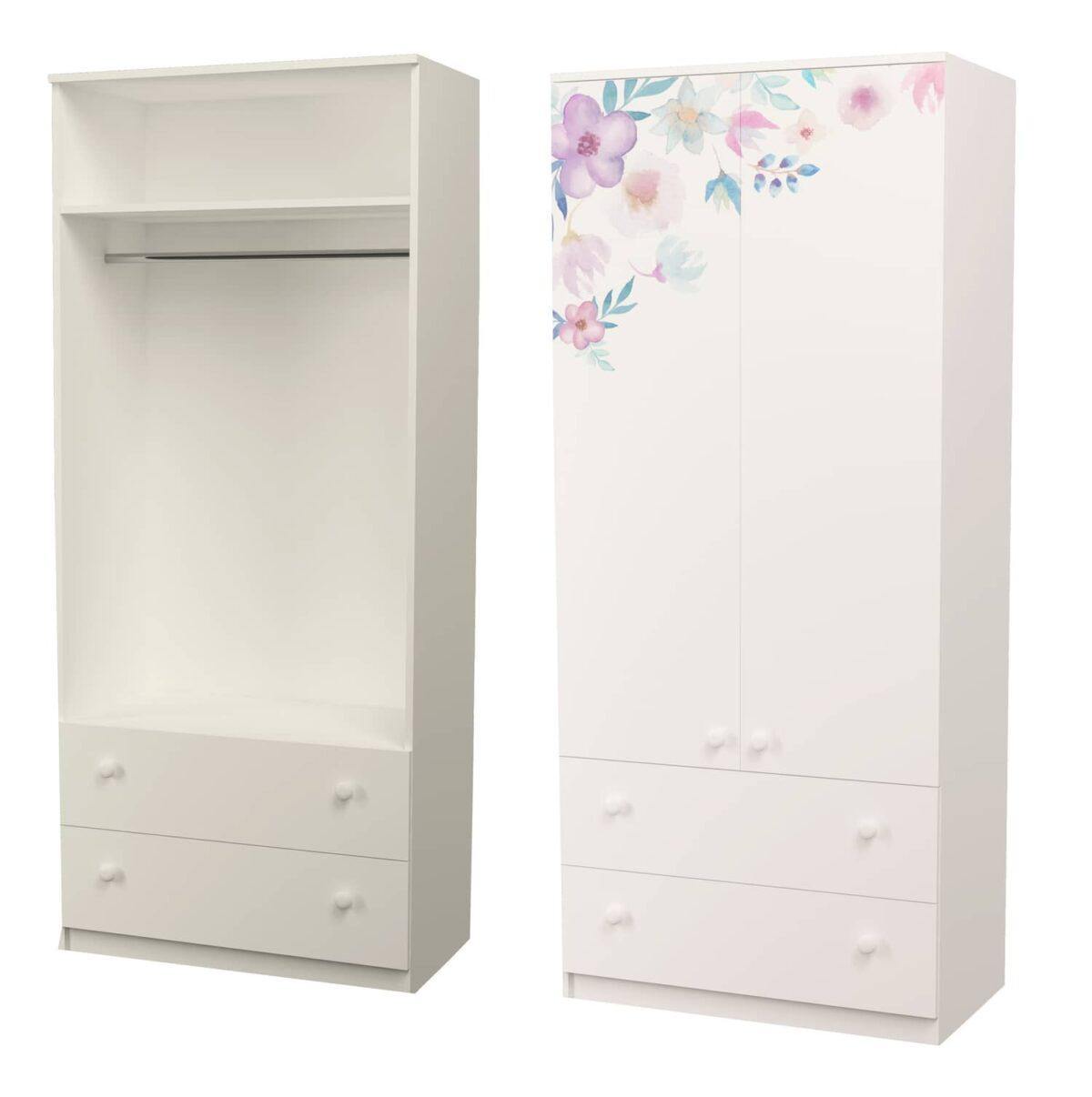 шкаф для вешалок цветы