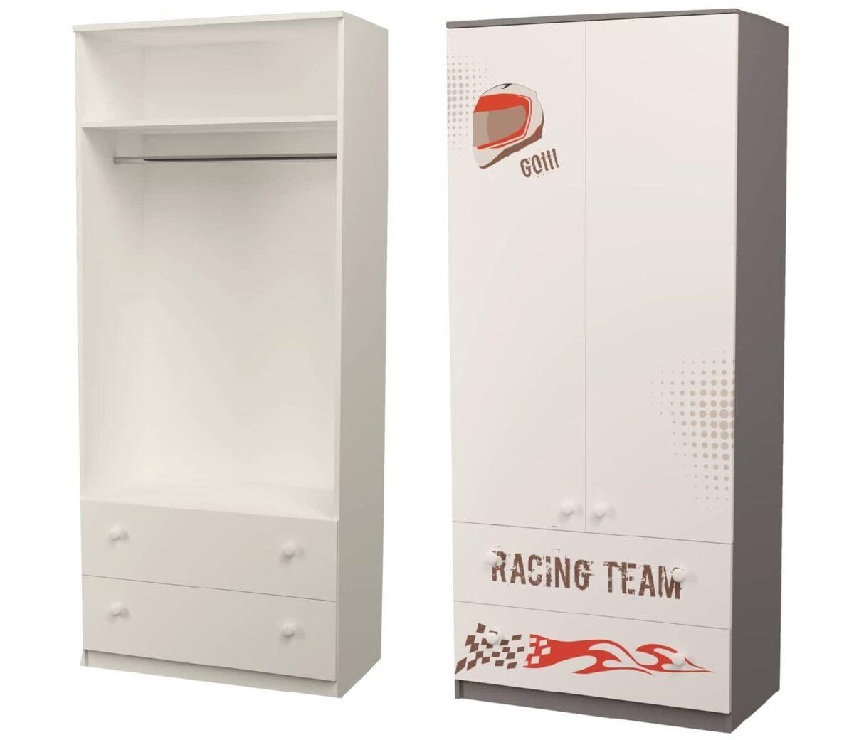 шкаф серый гонщик с я щиками