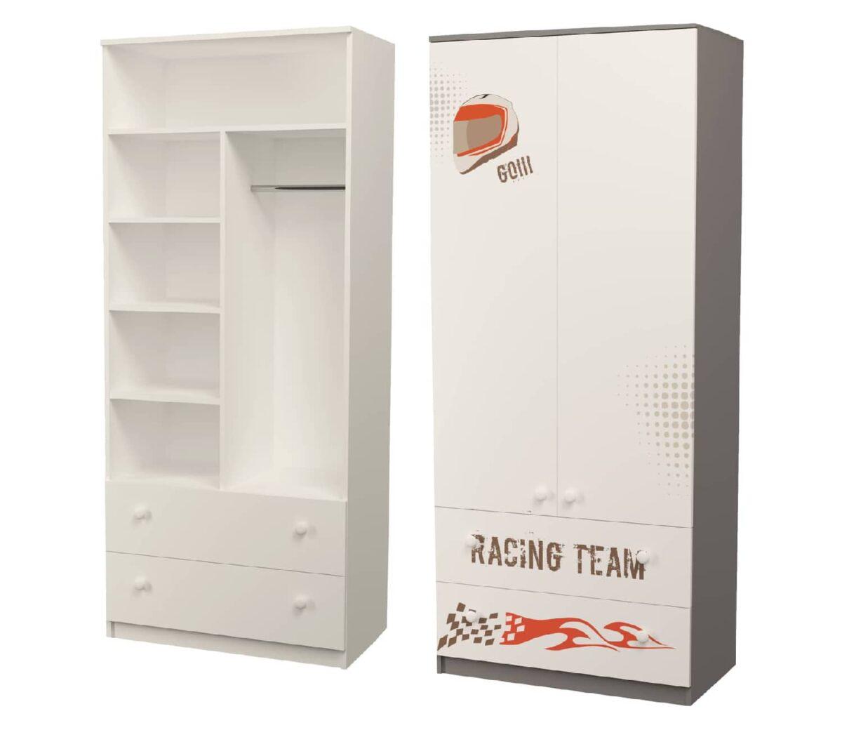 шкаф серый гонщик