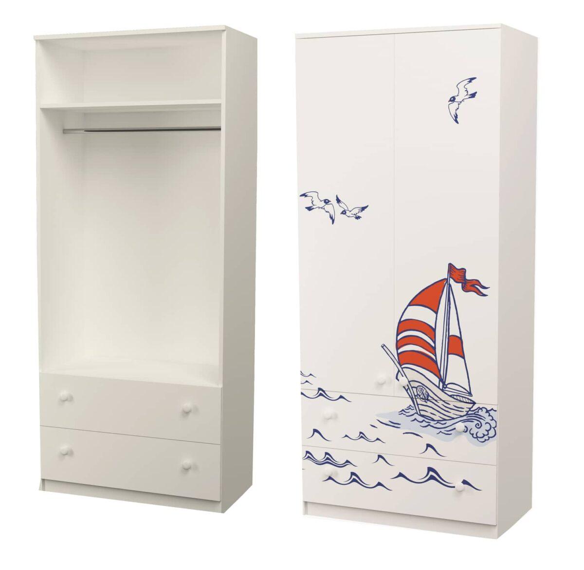 шкаф кораблик с трубой и 2 ящиками