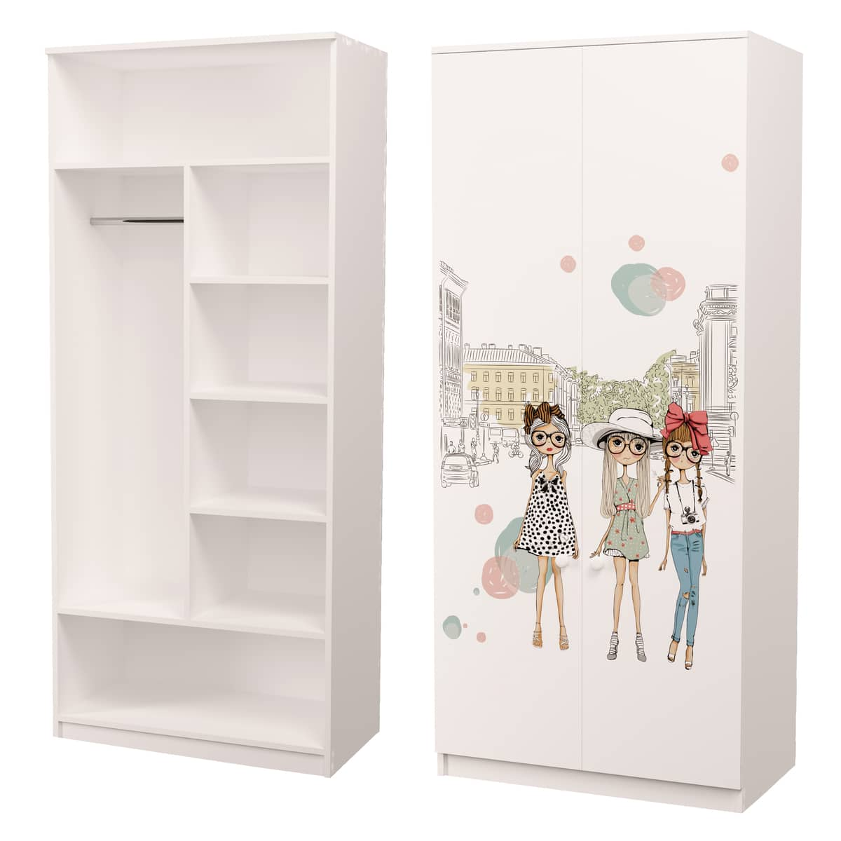 шкаф с рисунком