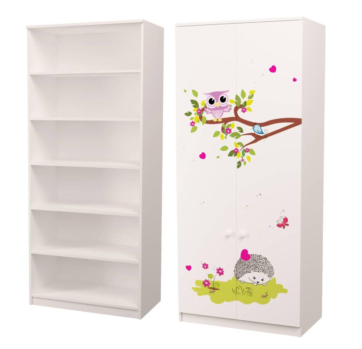 шкаф совушки с полками