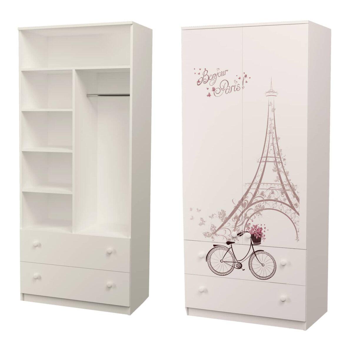шкаф для детской с ящиками париж
