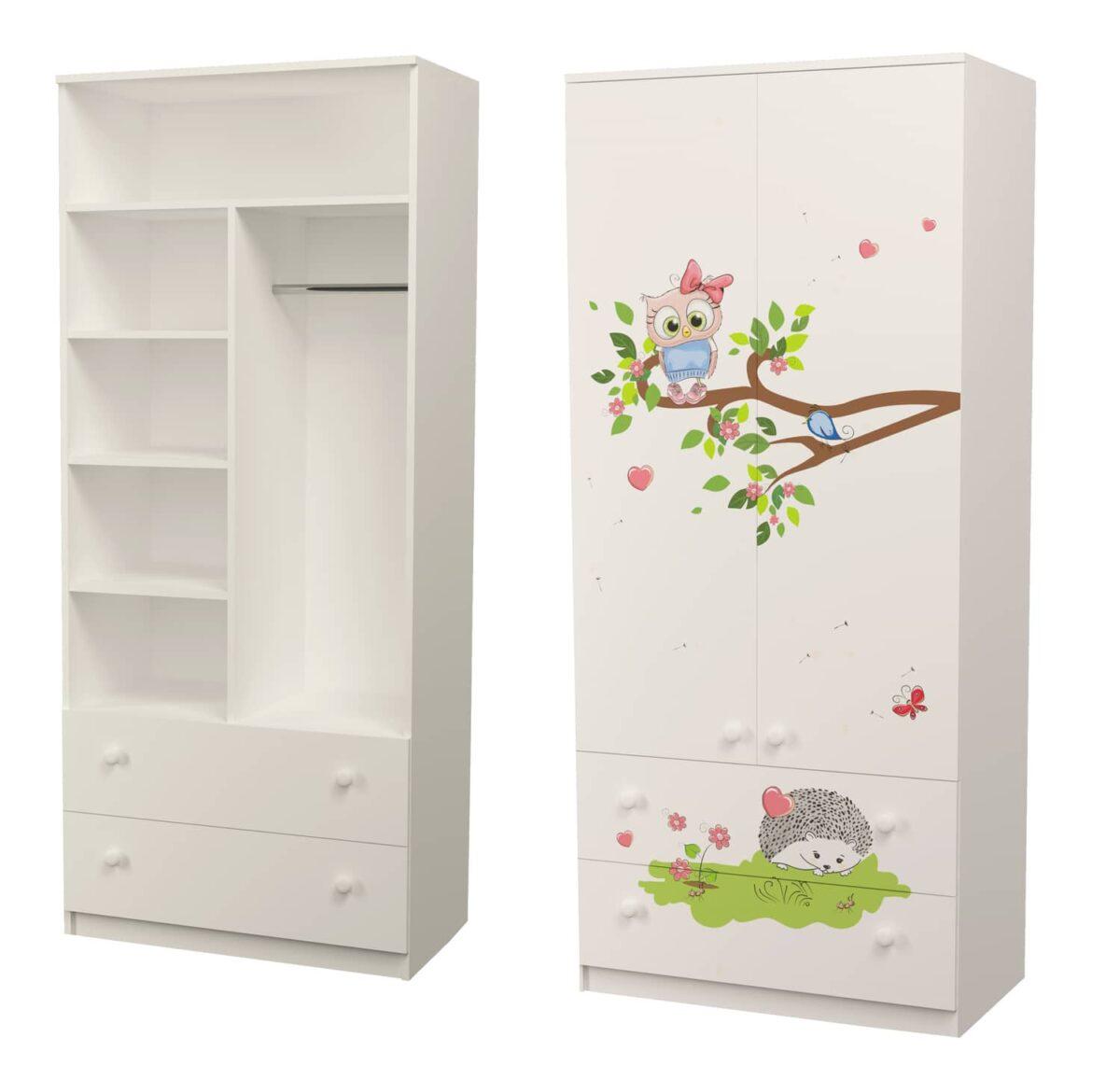 шкаф совушки комбинированный