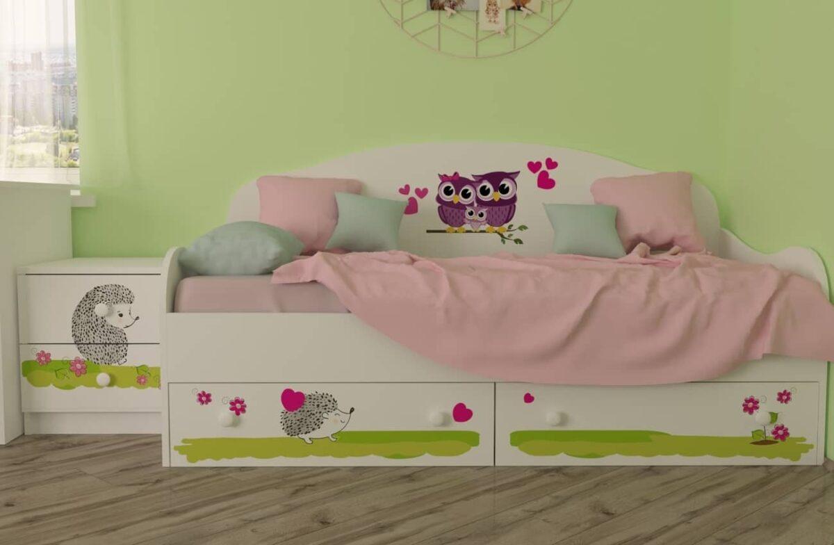 детская кровать совушки в интерьере