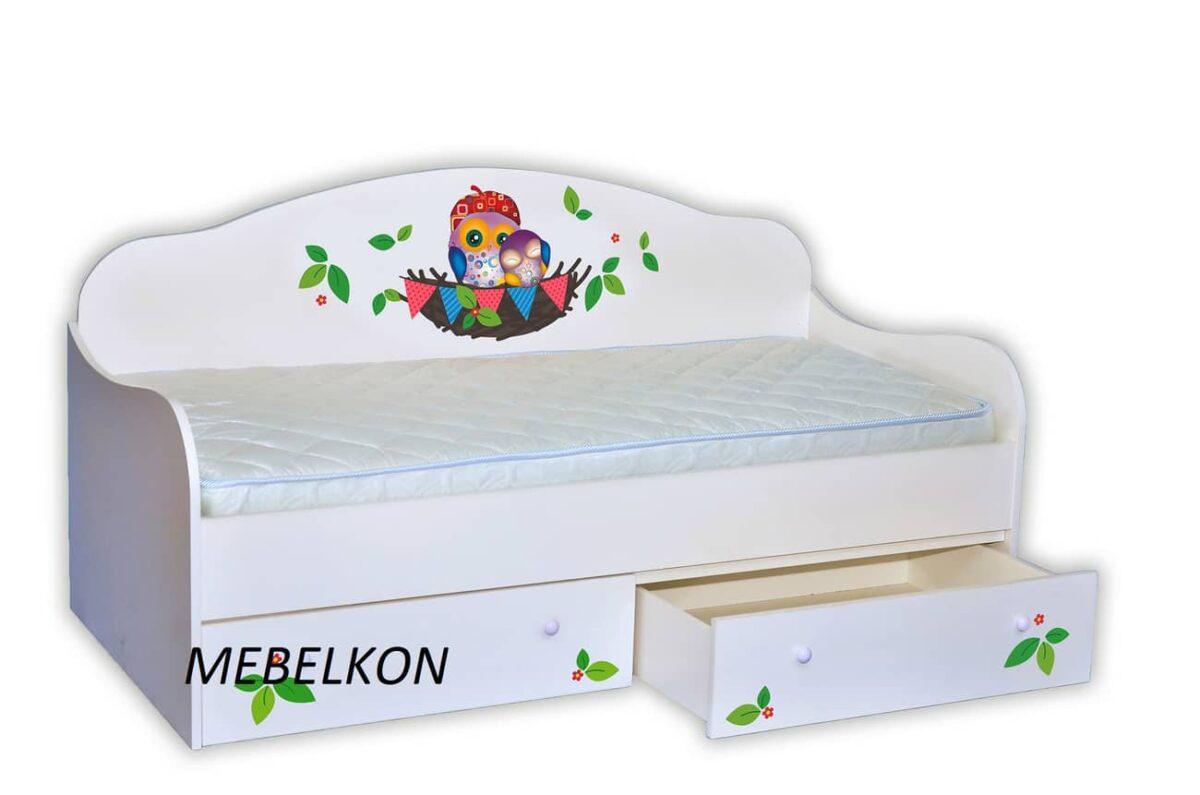 кровать в форме диванчика совушки