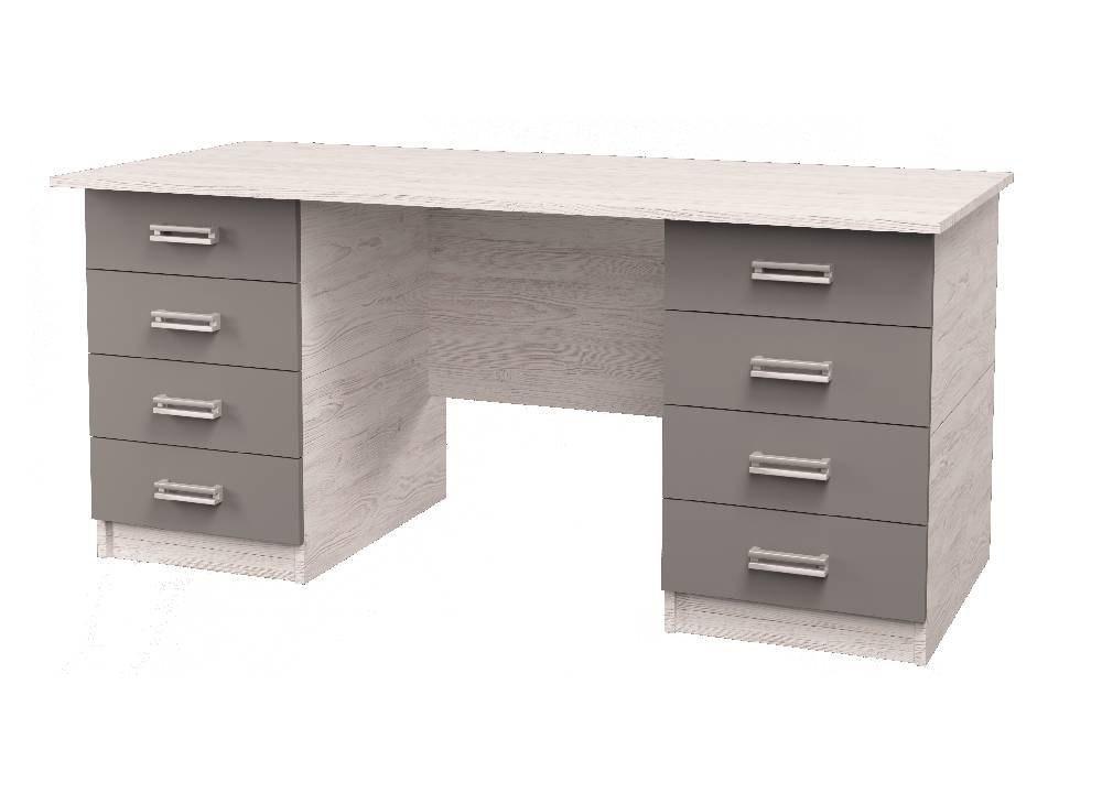 широкий стол с ящиками аляска антрацит
