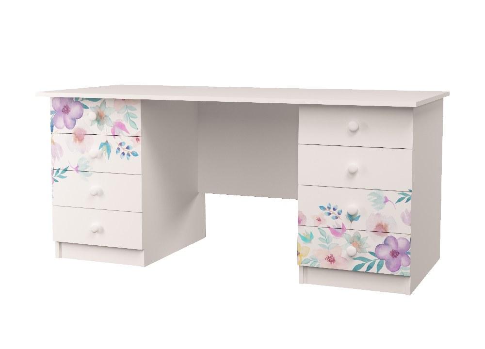 стол с 2 тумбами цветы