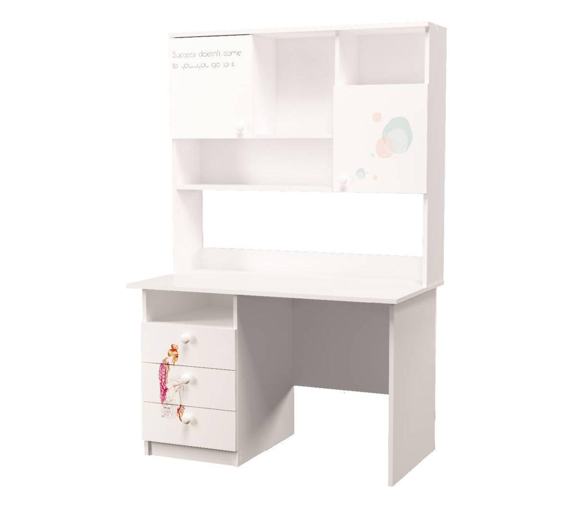 стол с полкой для книг нежность
