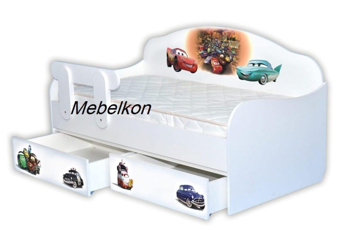 кровать диванчик с бортиком тачки