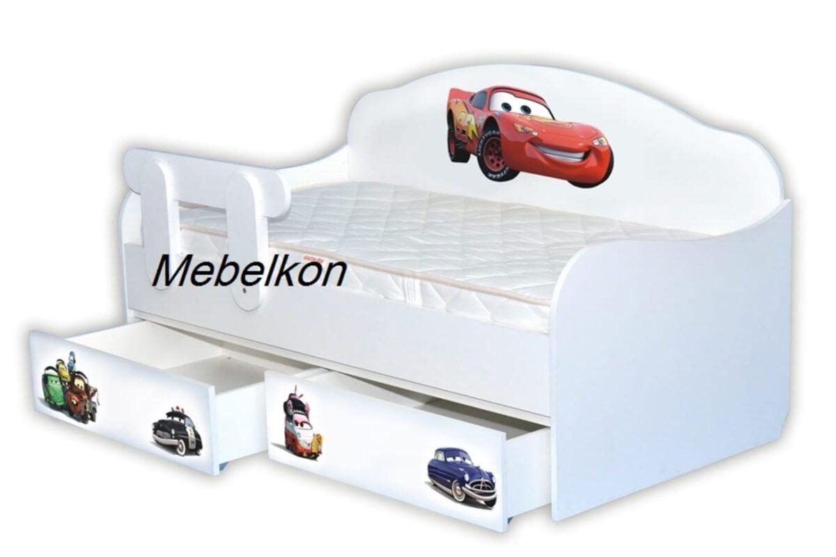 кровать диванчик детская тачки маквин