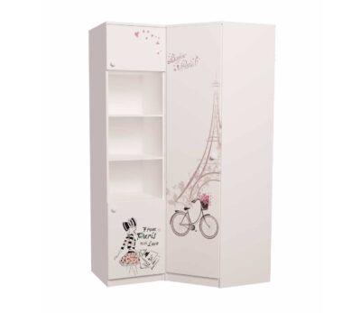 угловой шкаф с пеналом в детскую париж
