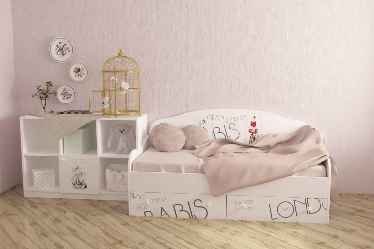 стильная кровать диванчик вояж