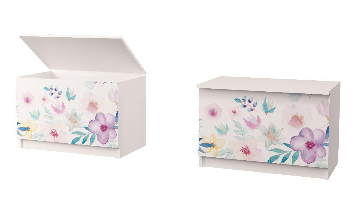 ящик для игрушек цветы