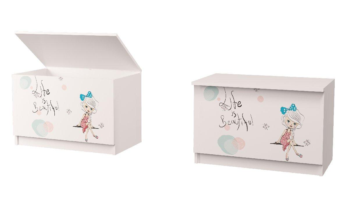 ящик для игрушек в детскую девочка
