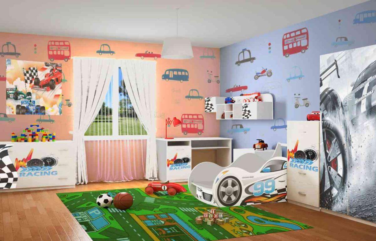Детская комната Рэйсинг форсаж шкаф комод