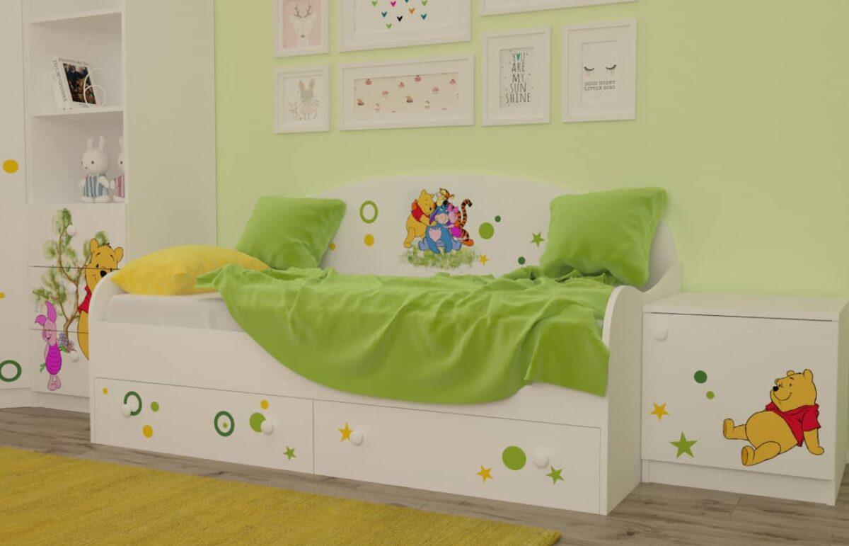кровать винни в детской комнате