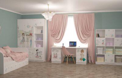 дитячі меблі стіл біля вікна для дівчинки гламур