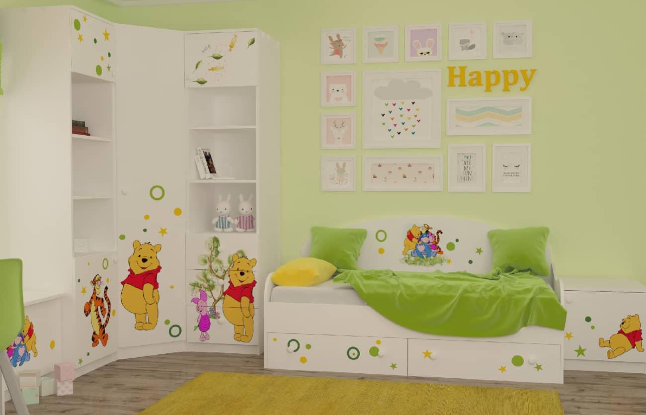 Дизайн детской в стиле Винни