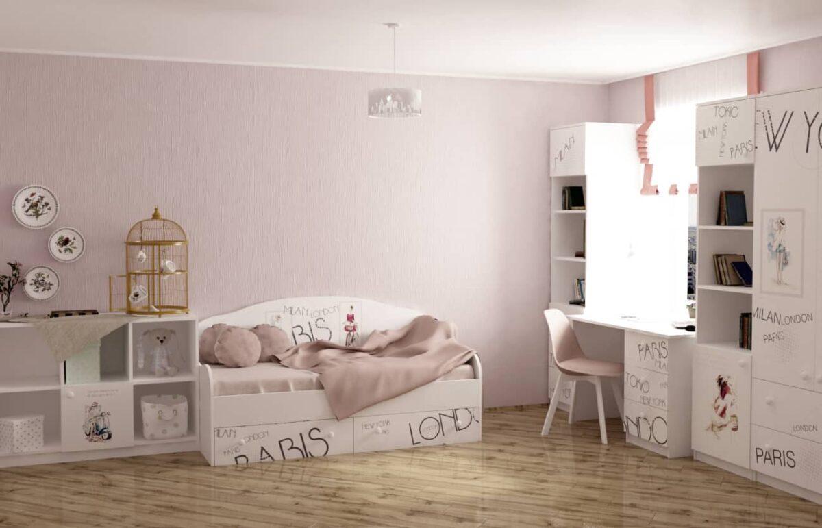 дизайн детской комнаты вояж с кроватью