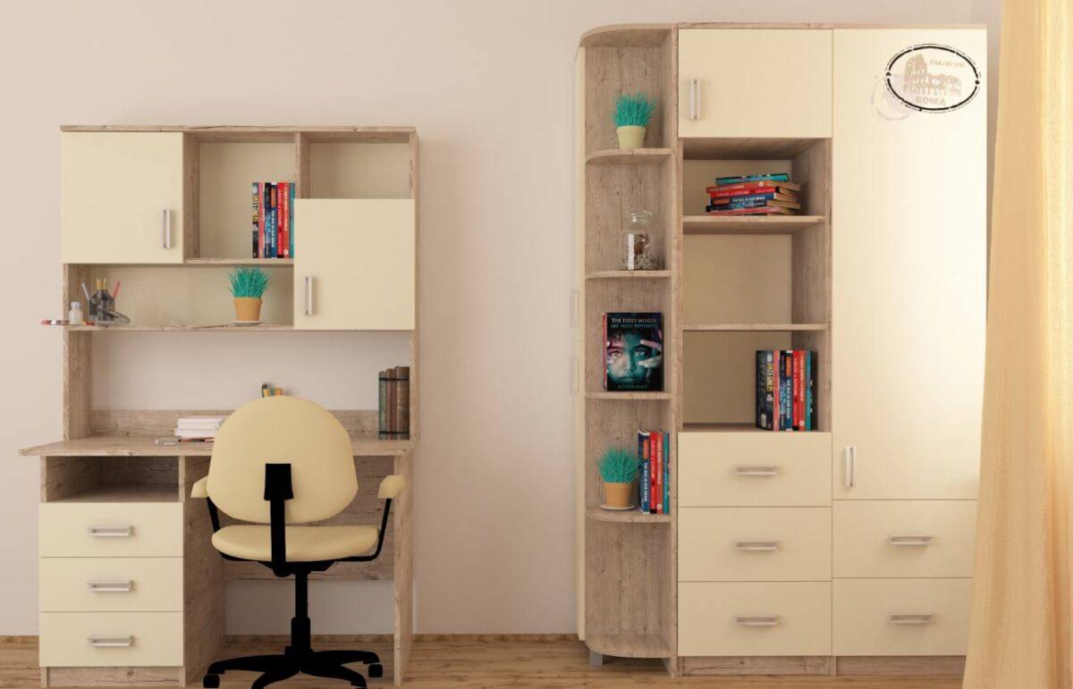 дизайн детской комнаты цветом дуб шервуд