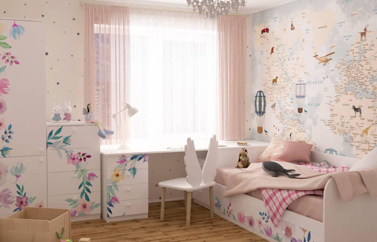 детская комната цветы
