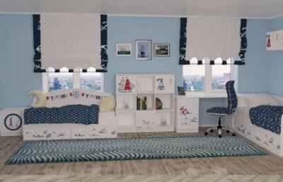 Дизайн детской комнаты кораблик для мальчика