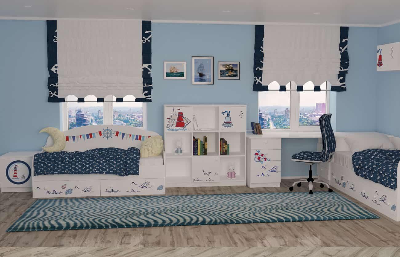 Дизайн дитячої кімнати кораблик для хлопчика