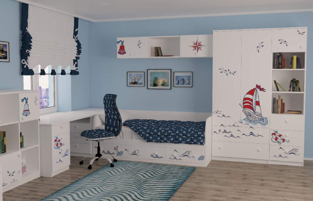 Комната кораблик для ребенка