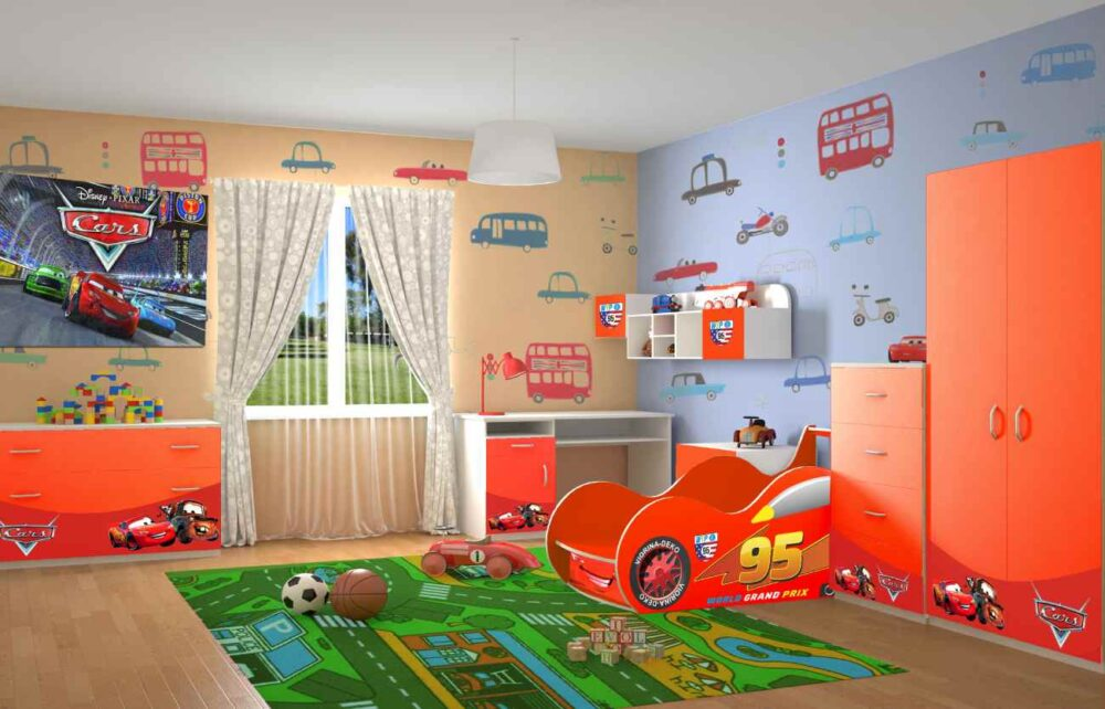 Детская комната Маквин Форсаж красная